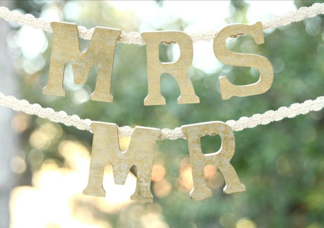 Wood wedding chair signs are perfect to customize to create decor for the big day! Use these Mr. and Mrs. letters as chair signs or photo props.