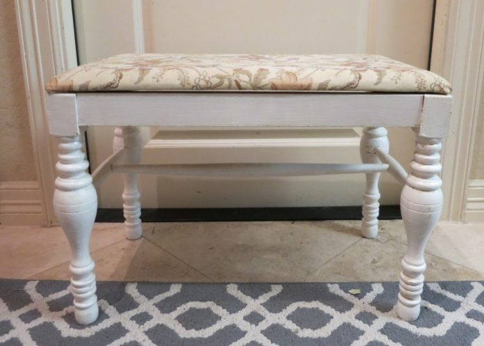 thrifted bench makeover