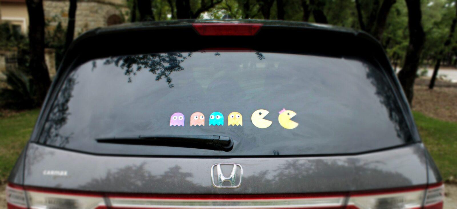 Pac-Man Family Car Decals DIY - Morena's Corner