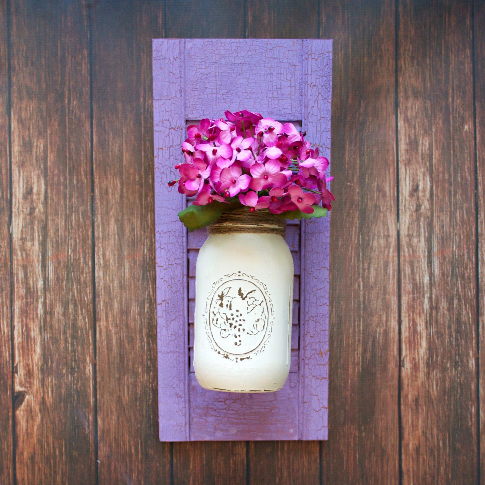 shutter flower holder DIY