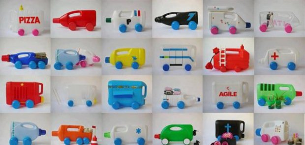 Plastic Bottle Cars