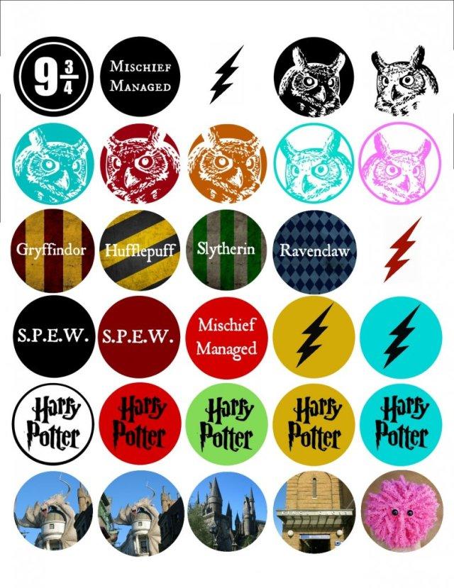 Make Harry Potter Bottlecap Pendants - Free Printable