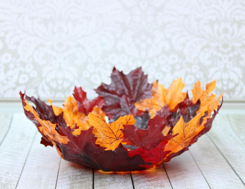 leaf bowl tutorial for fall decor