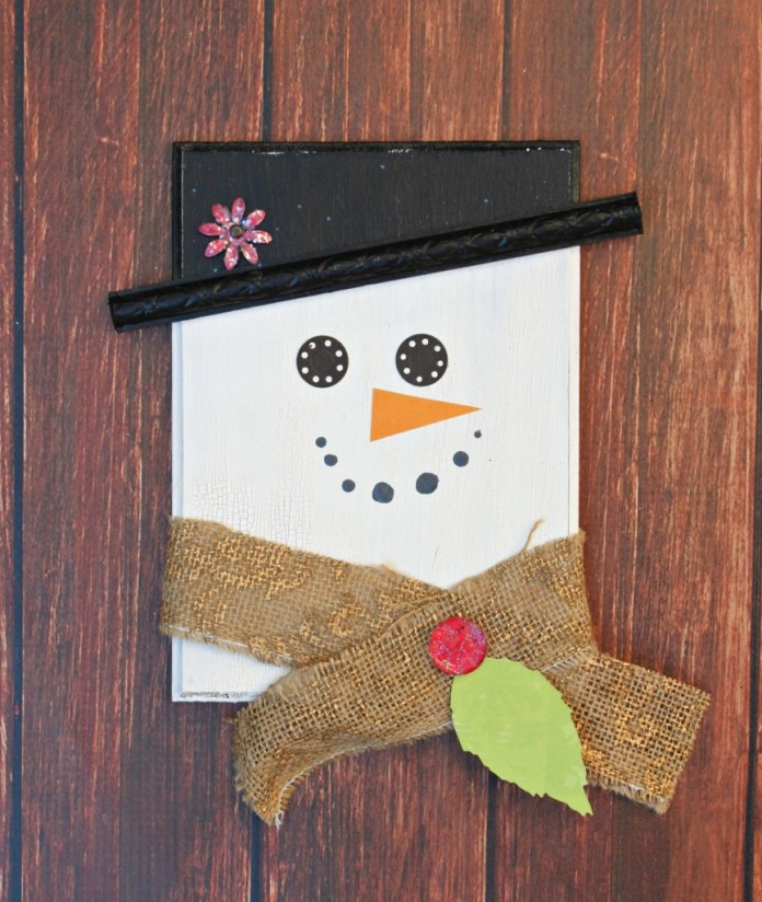 DIY snowman decor