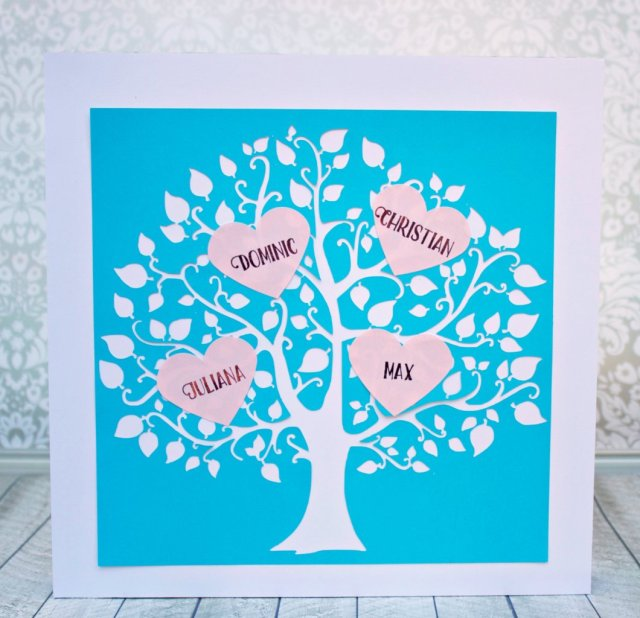 A Valentine Family Tree makes a great gift for a loved one, and it's also a pretty way to decorate your own home for this lovely holiday!