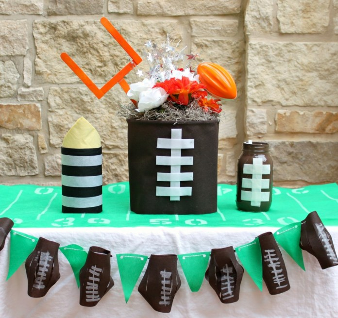 Simple football party crafts that you can make with friends and family.