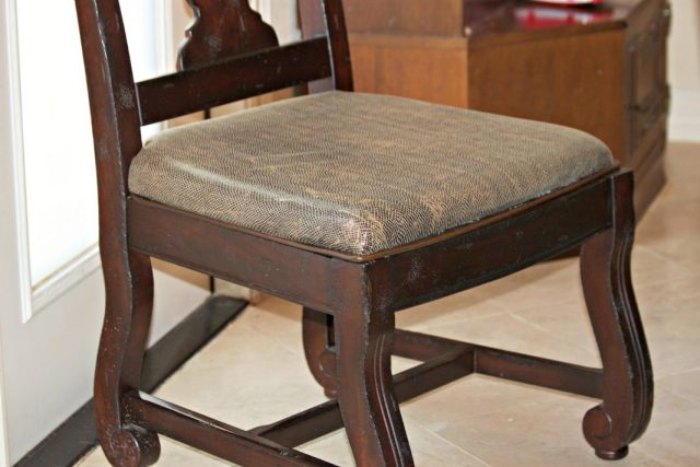Chair repair: learn how to easily fix a broken dining chair by recovering the seat using wood, foam, fabric, and a staple gun.