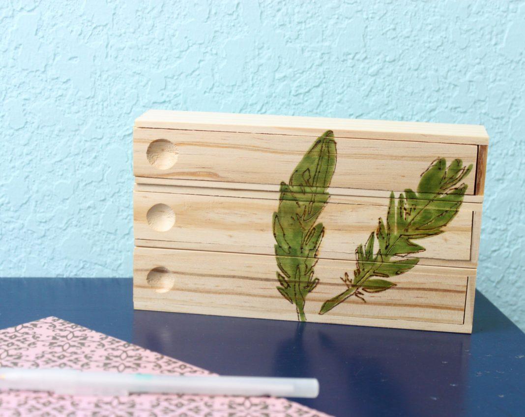 Wood Burned Pencil Box Tutorial