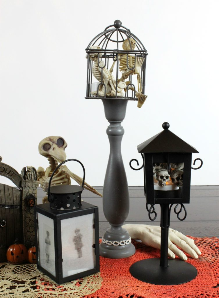 Make your own spooky lanterns to decorate your home with this Halloween! Download the free printable to use to make this ghoulish decor.