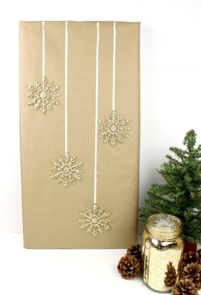 kraft and gold gift wrap