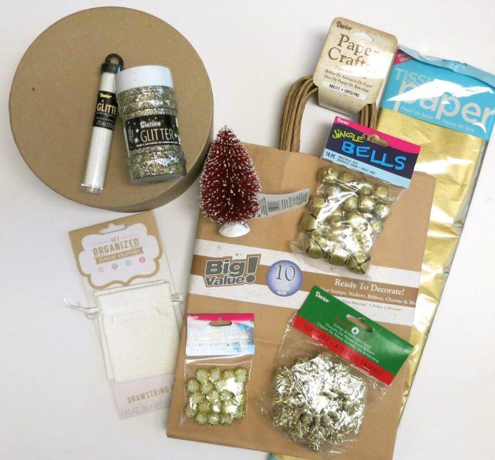 christmas DIY gift wrap supplies