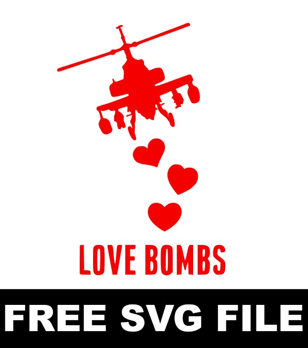 Love bombs free SVG file