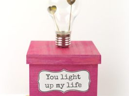 valentine light bulb gift box