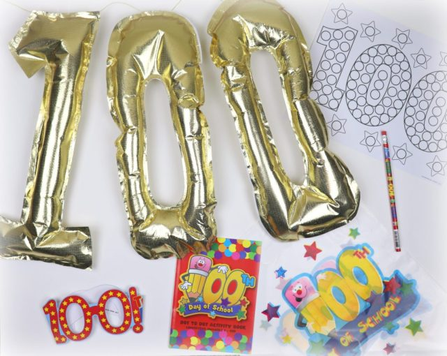 Celebrate 100 days of school with these DIY balloons and fun goodie bags. Preschool and early elementary school classroom activity and decor ideas.