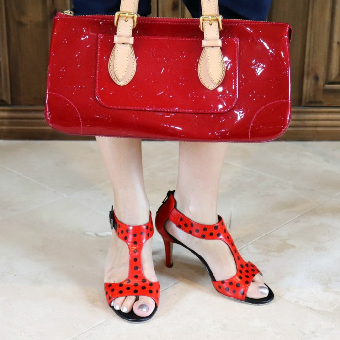 ladybug heels painted