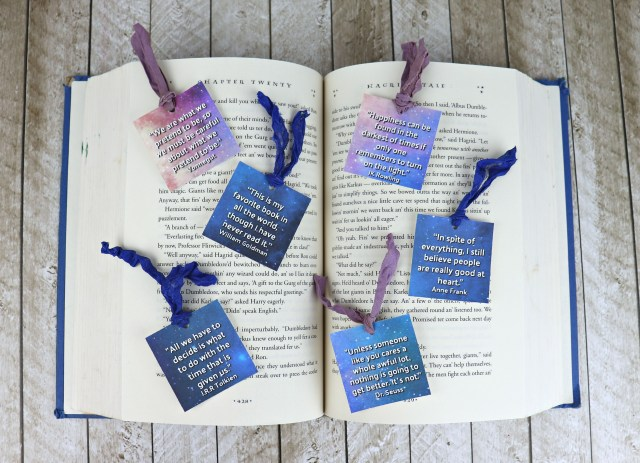 National Book Lovers Day is August 9th! Use this free printable with OnlineLabels.com tags to make bookmark gifts.
