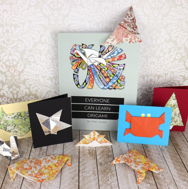 Make your own origami cards. Learn how to make beginner origami folds and shapes to create your own cute notecards.