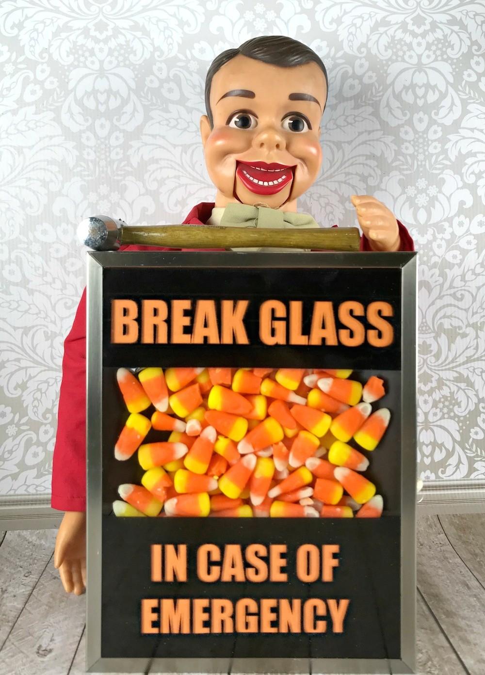 picture regarding In Case of Emergency Break Glass Printable called Split Gl in just Situation of Crisis Sweet Decor - Morenas Corner