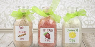 Flavored Sugar Recipes with Free Printable Labels