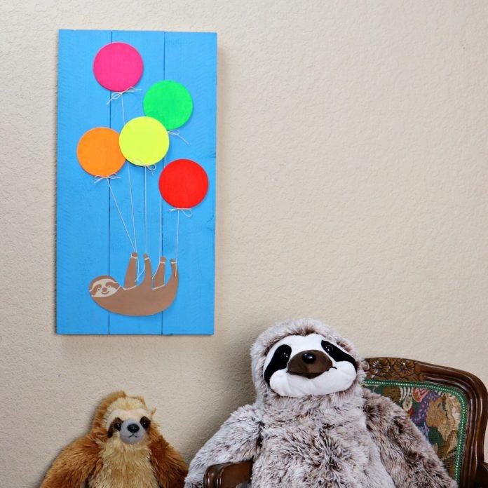 sloth wall art DIY decor
