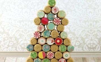 Cork Tree Decor DIY: 12 Days of Christmas Crafts