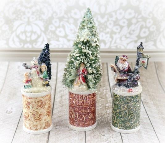 Wood Spool Christmas Decor Tutorial