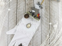 glove hanging decor DIY