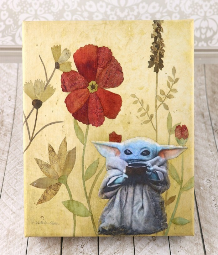 This is such an easy way to update thrift store art!