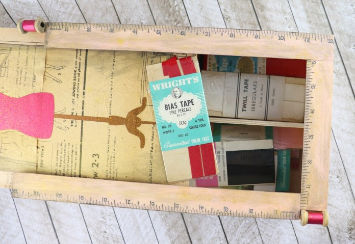 upcycled box storage DIY