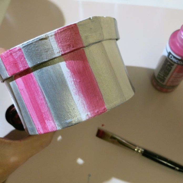 pink metallic paint for Valentines