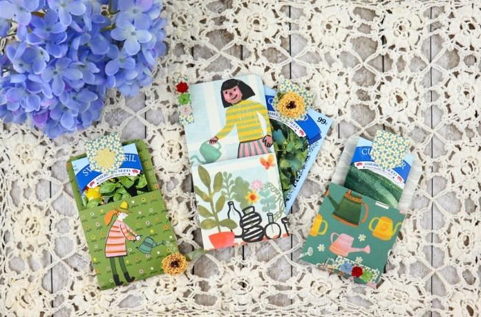 garden gift pocket or party favor