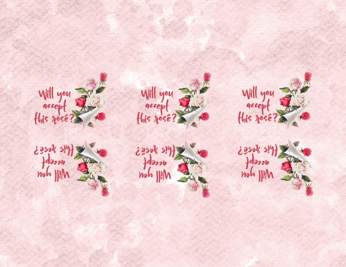 Rosé Wine Tag Free Printable to Download for Personal Use