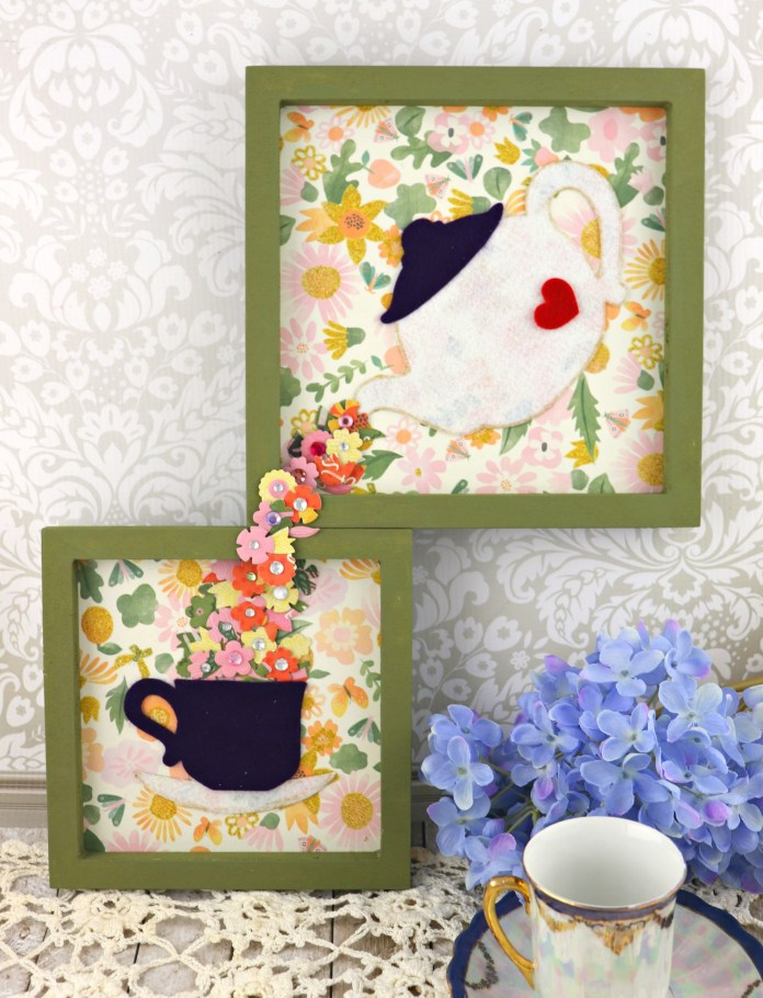 time for tea wall art diy