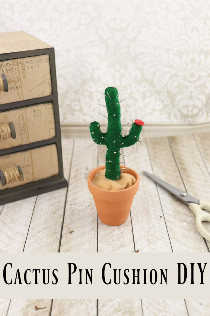 how to make a cactus pin cushion