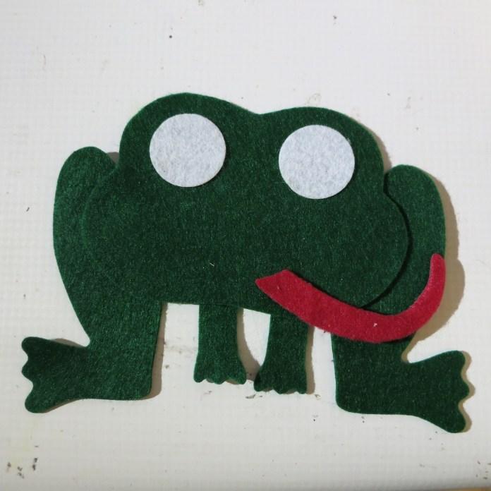 fabric felt frog DIY