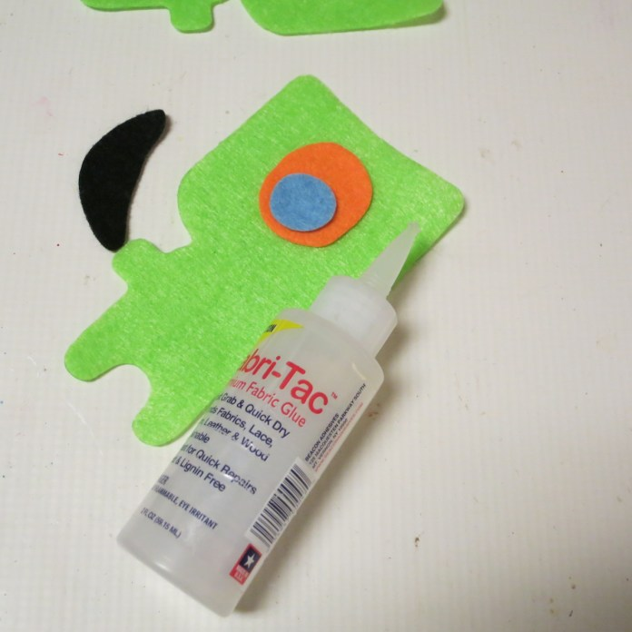 Fabric glue to make felt monster
