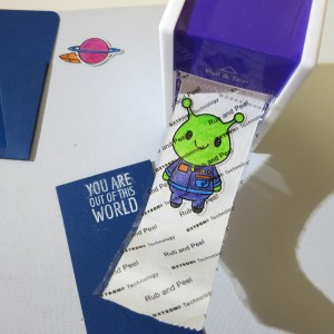 xyron adhesive alien sticker