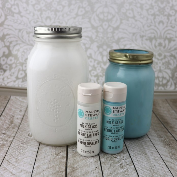 faux milk glass paint