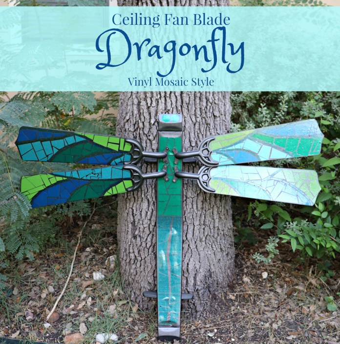 how to make a dragonfly with fan blades and vinyl