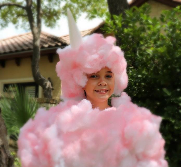 cotton candy DIY costume