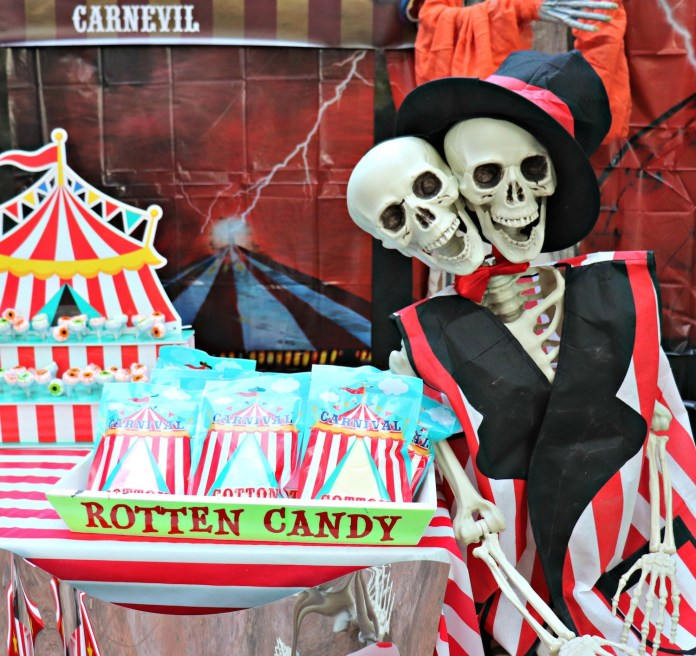 rotten candy Carnevil vinyl signs candy display
