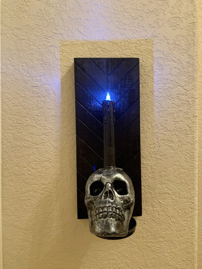 how to make a skull sconce