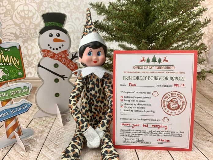 Elf on the Shelf printable behavior report