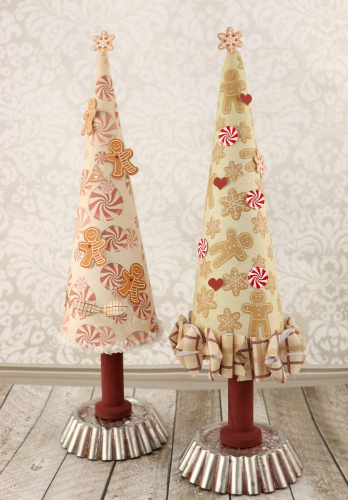 gingerbread christmas tree made with paper