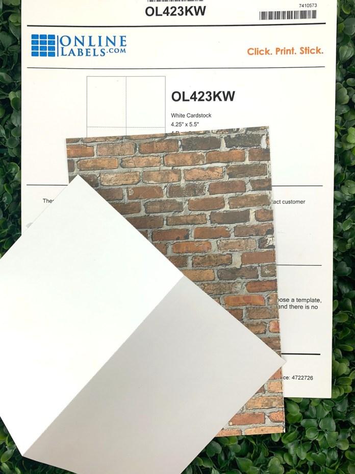 printable postcard paper