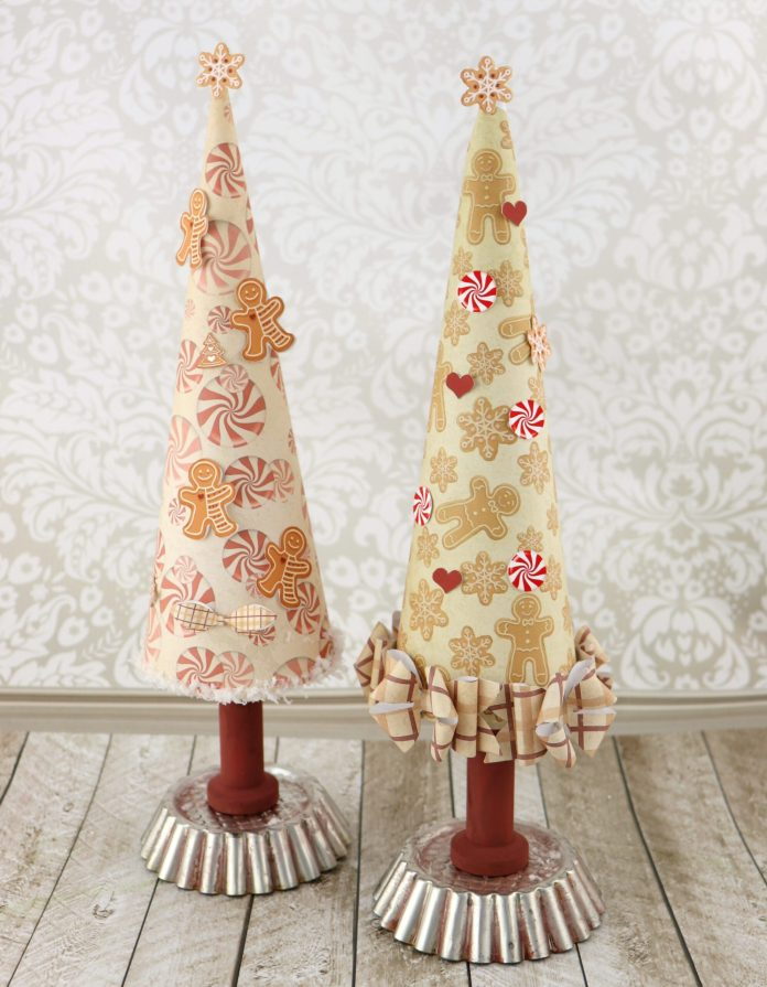 gingerbread trees papercraft christmas decor