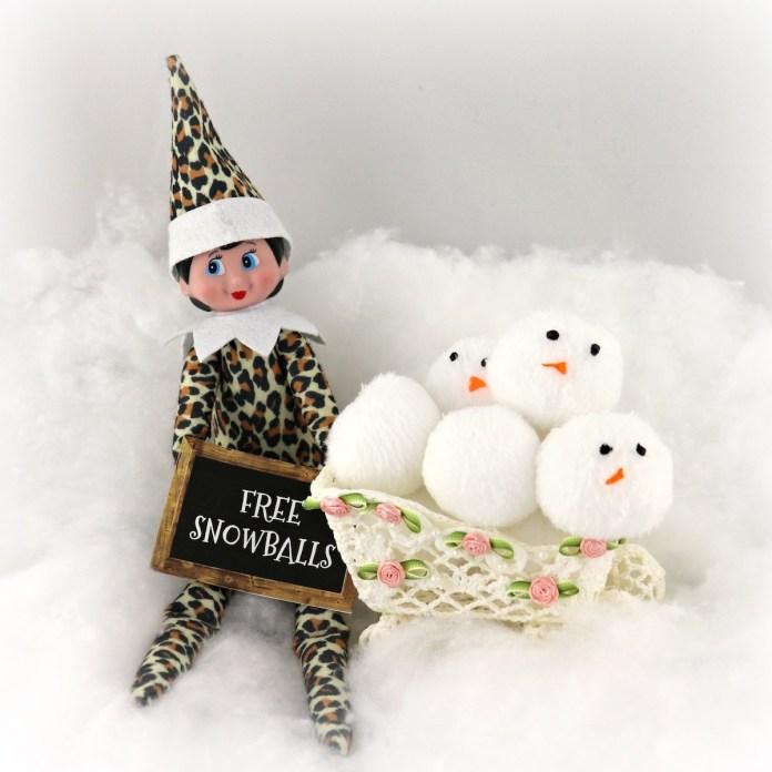 plush snowballs tutorial for elf on shelf