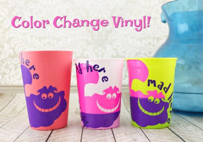 Vinyl that changes color when cold