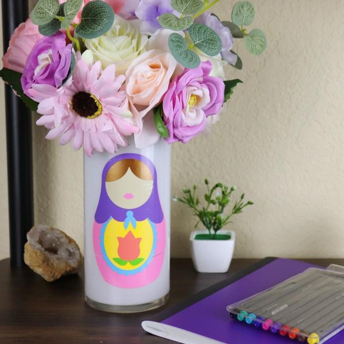 nesting doll decorative vase