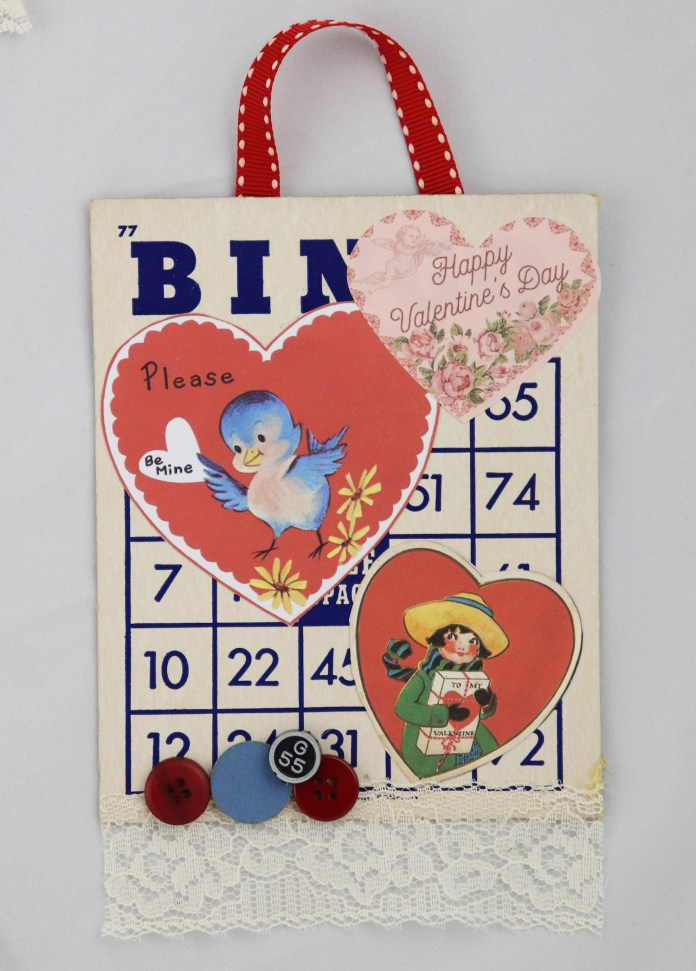 Bingo card vintage valentine DIY